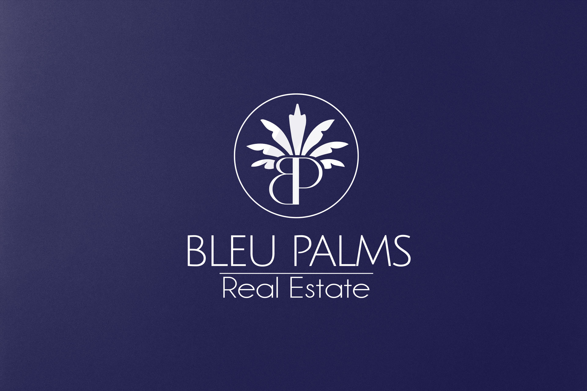 Bleu Palms Real Estate logo design West Palm Beach