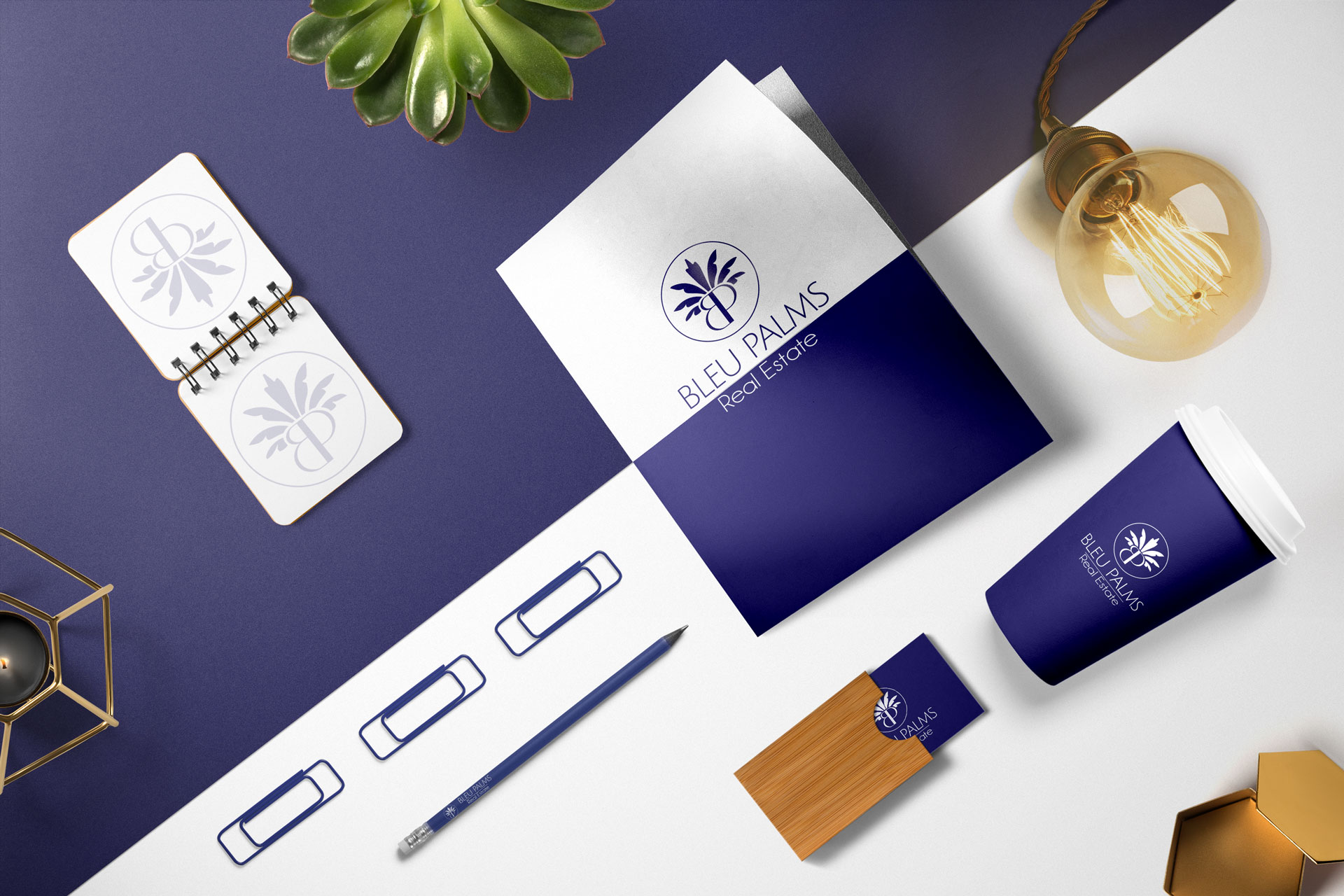 Bleu Palms Real Estate Brand identity West Palm Beach