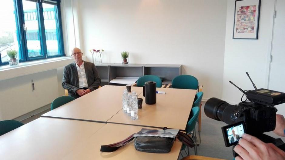 덴마크 국제외교부가 소개한 조치 밸처슨 CICED 부의장과 인터뷰(사진: 김희욱)