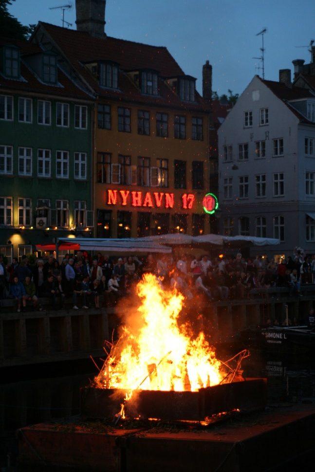 Sankt Hans Bonfire in Copenhagen