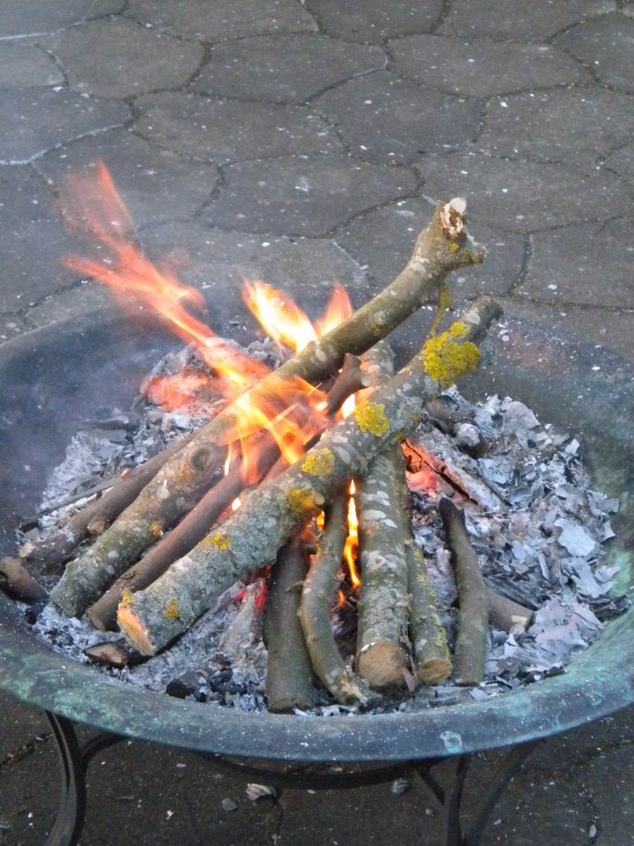 Bonfire in privat garden