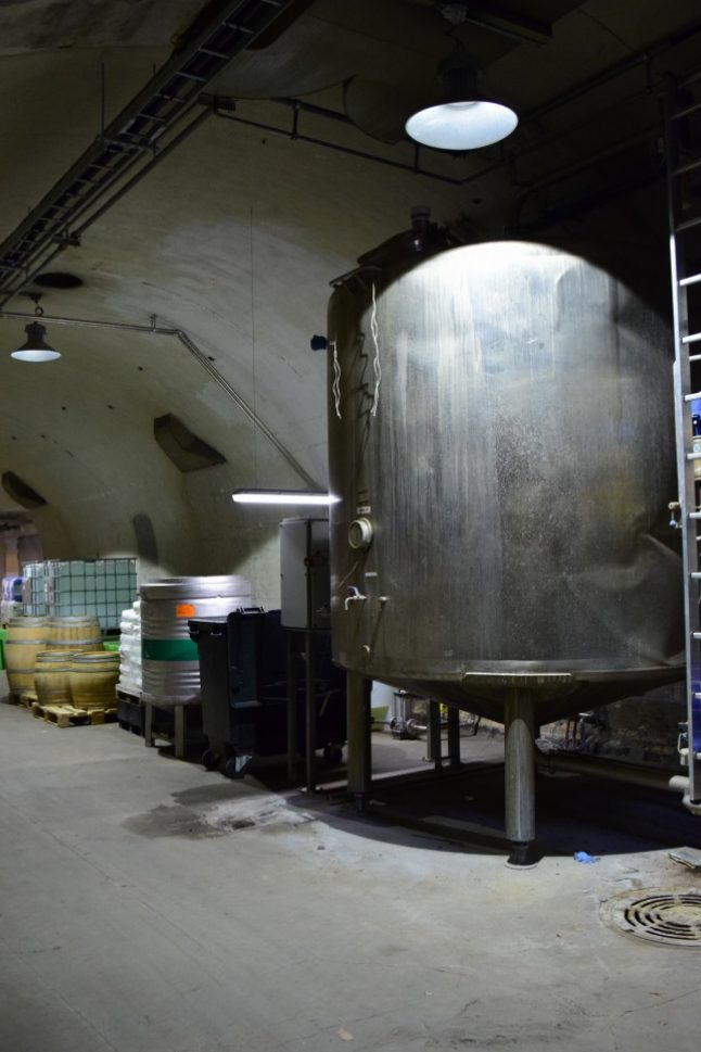 Some of the brewing equipment that you can find hidden in the basement so that is in the right temperature all the time.