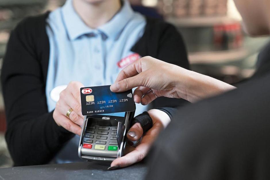 비접촉식 결제 덴마크 신용카드 (Nets 제공)
