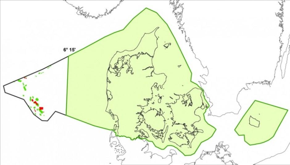 녹색으로 표기된 덴마크 영토와 영해에서는 화석 연료 탐사와 채굴을 위한 시추가 금지된다 (덴마크 에너지전력기후부 제공)