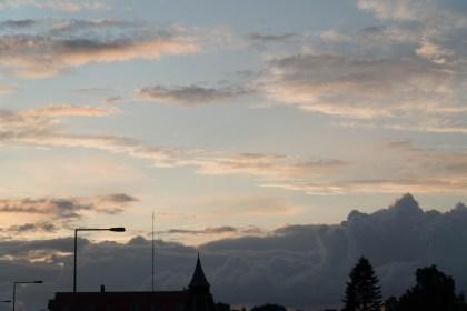 구름 낀 덴마크 석양(사진: 안상욱)