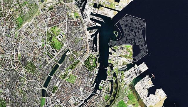 덴마크 정부가 2070년까지 조성하겠다고 발표한 인공섬 뤼네테홀멘(Lynetteholmen)(덴마크 교통건설주택부 제공)