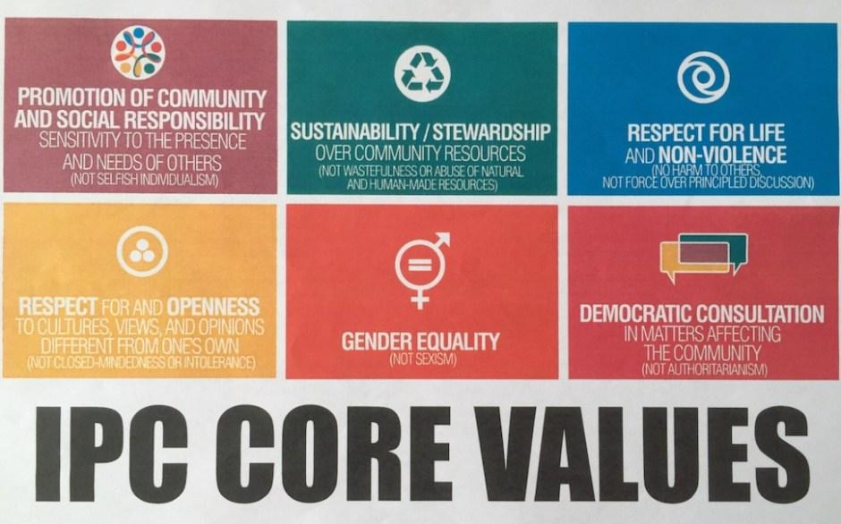 IPC의 여섯 가지 핵심 가치(박성종 제공)