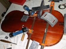 framus cello 12 largest crack clamped