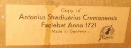 framus cello 5 label