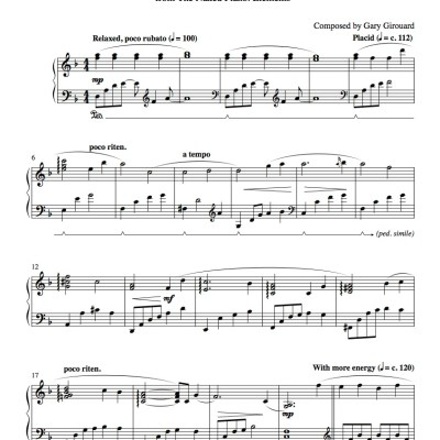 """Springtime"" Solo Piano Sheet Music (from the Naked Piano Elements)"