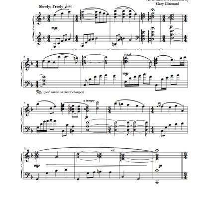 """Rusticana"" Solo Piano Sheet Music (from the Naked Piano Light & Dark)"
