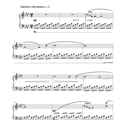 """Invictus"" Solo Piano Sheet Music (from The Naked Piano Transitions)"