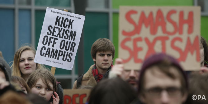 Glasgow University students protest