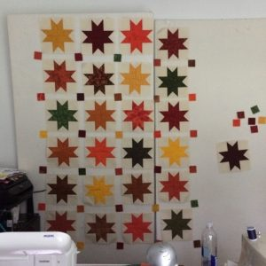 autumn stars quilt layout