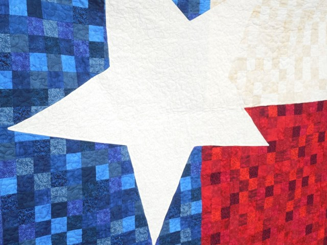 Oversized star Texas 9 Patch quilt