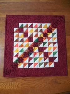 Moda Blockheads 2 Block 27 Mountain Climbing candle mat table runner miniature quilt