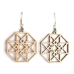hypercube earrings