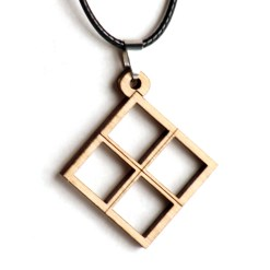 number 4 pendant