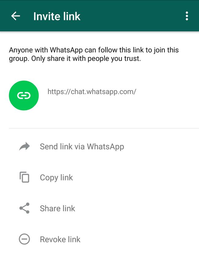 كيفية إنشاء رابط دعوة لمجموعة واتس اب ومشاركته