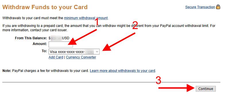 سحب الاموال من باي بال عن طريق البطاقة