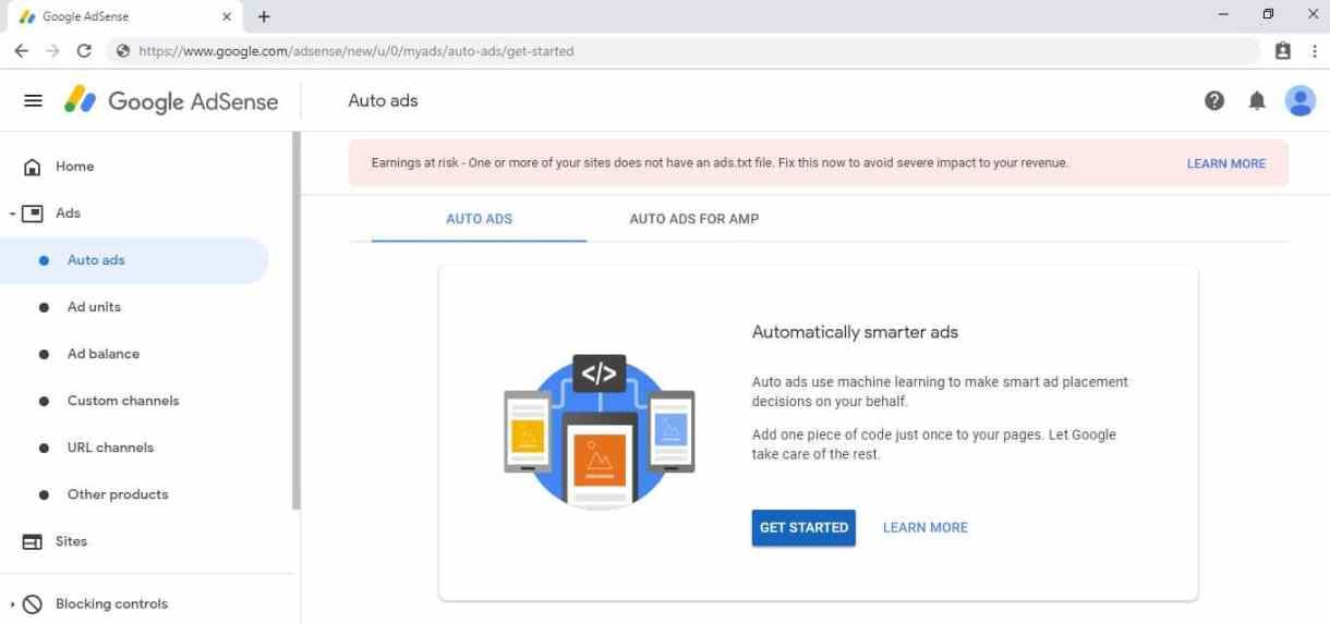 جوجل أدسنس مشكلة ads.txt