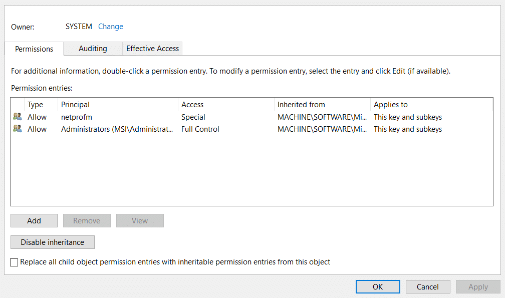 Edit the Registry for Connection Errors