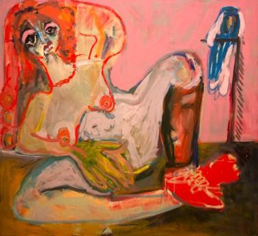 "Jay Miriam, ""Woman and her Headless Parrot,"" 2015, photo courtesy Garis & Hahn, New York."