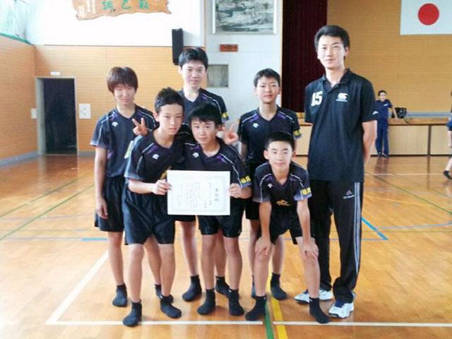 那珂川北中学校、バレーボール部男子、優勝