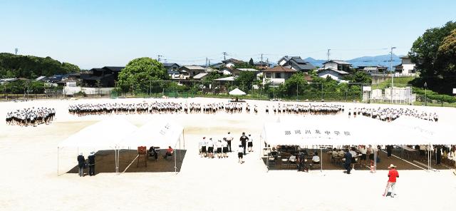 那珂川北中学校・体育祭 屋外練習