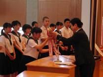那珂川北中学校・平成28年度1学期終業式