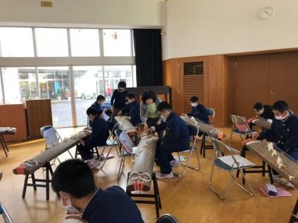 那珂川北中学校 筝の体験授業