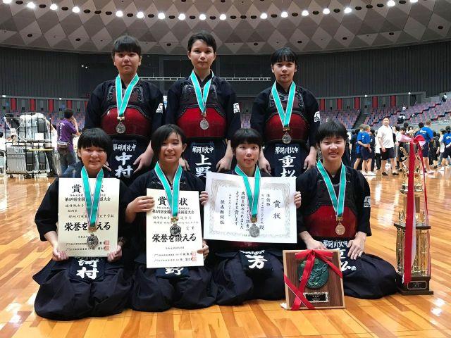 那珂川北中学校 剣道部女子、全国中学校剣道大会で準優勝