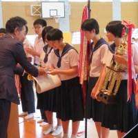 那珂川北中学校 活躍した部活の生徒たち