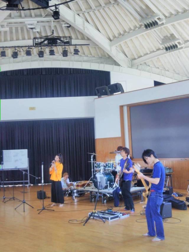 那珂川北中学校 そよかぜフェスタリハーサル風景