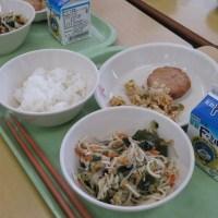那珂川北中学校 給食試食会