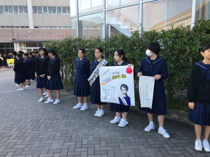 那珂川北中学校 生徒会選挙活動