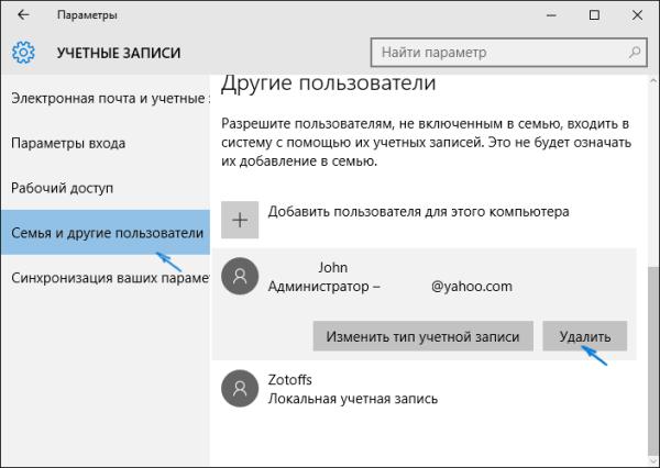 Удалить учетную запись Майкрософт в Windows 10: как ...