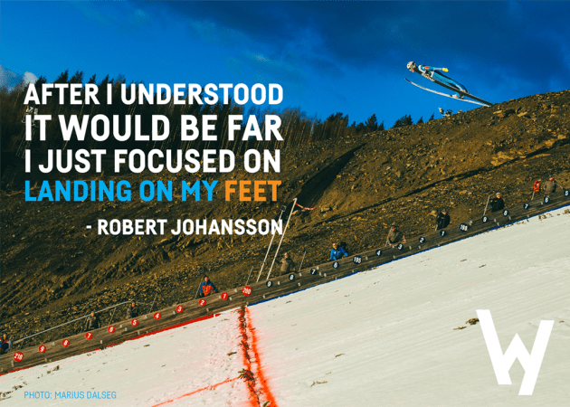 After I understood it would be far, I just focused on landing on my feet - Robert Johansson