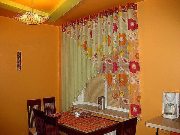 Статья о шторах для кухни на люверсах: фото, описание ...