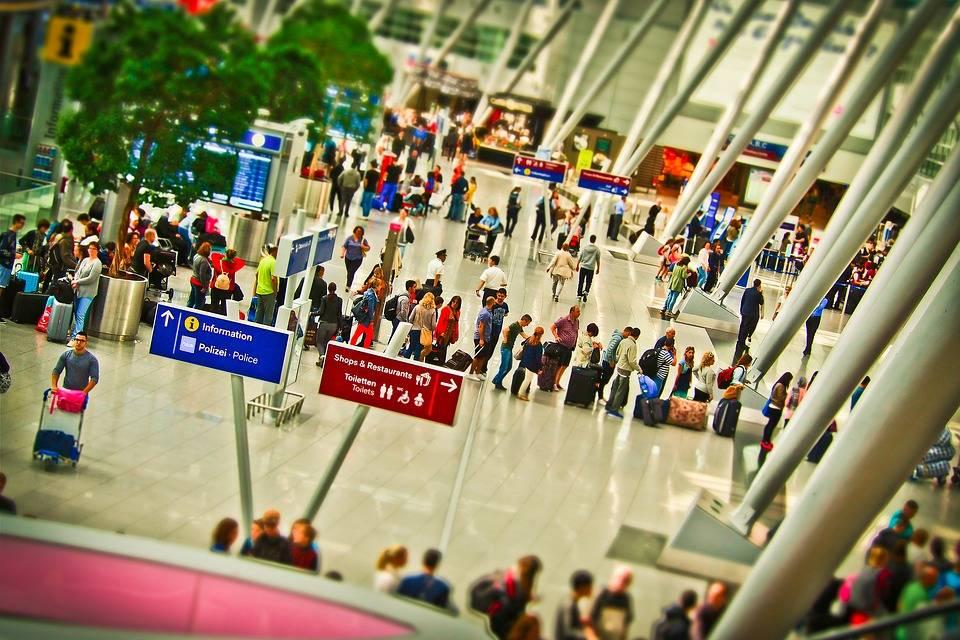 check-in na letišti