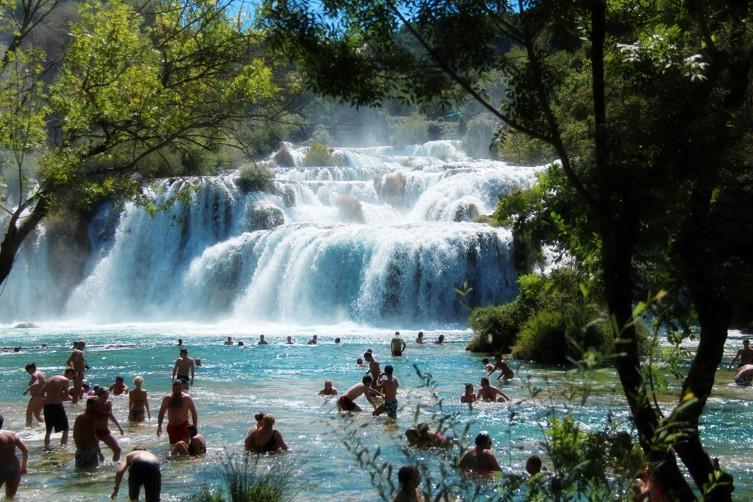 Vodopády Skradinski buk (Skradinské vodopády), Chorvatsko