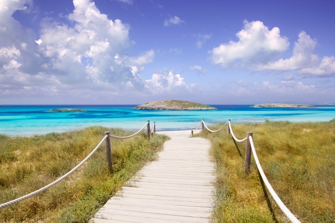 illetas paradise beach, formentera, Španělsko