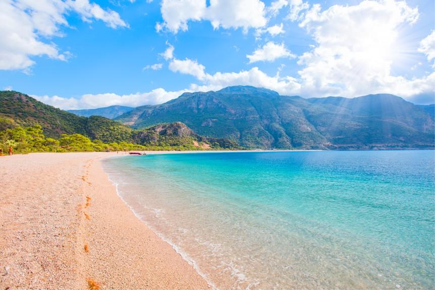 oludeniz pláž, Turecko