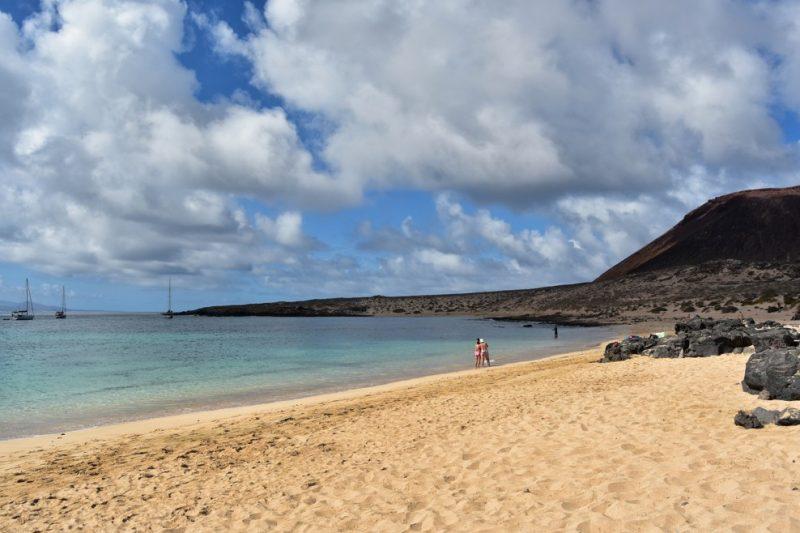 pláž Playa La Francesa, Lanzarote