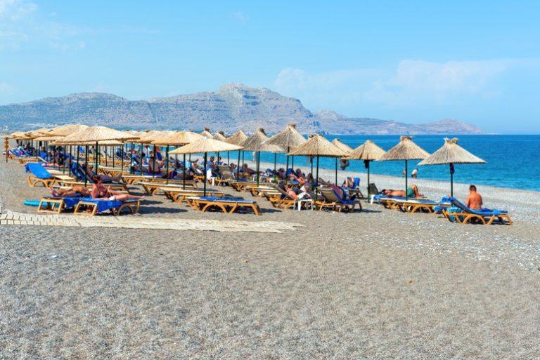 Kalathos beach. Rhodos