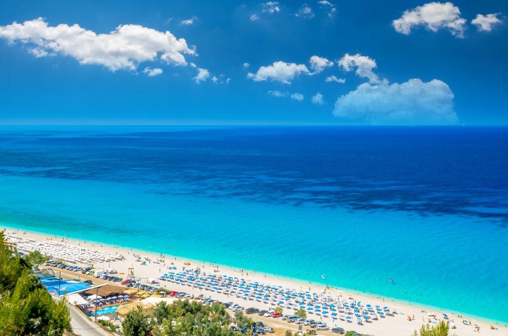 Kathisma Beach, ostrov Lefkada, Řecko