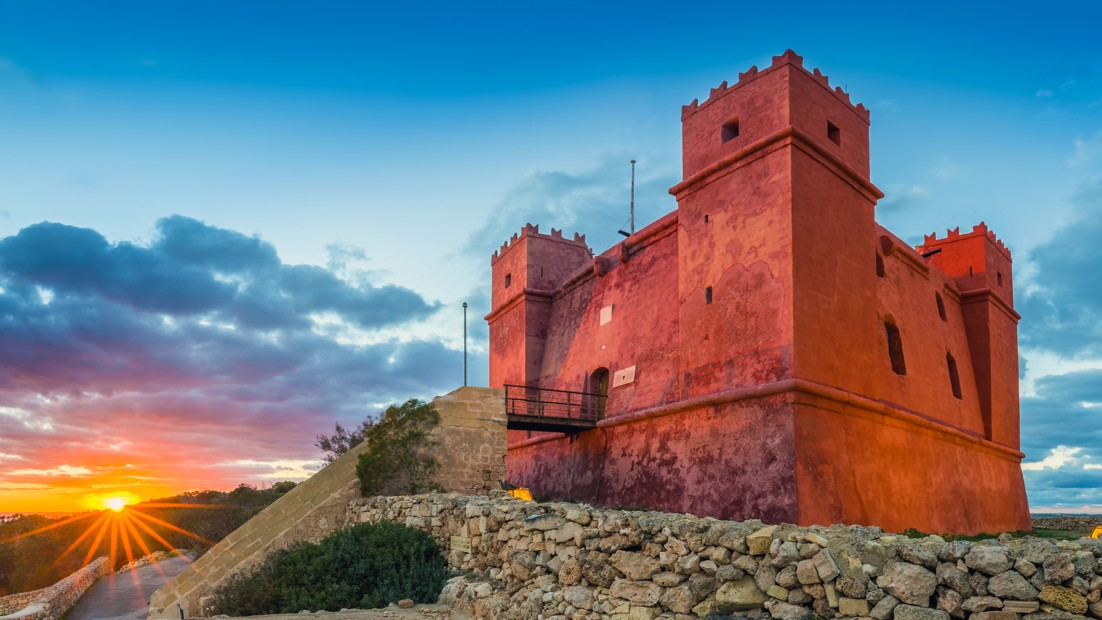 St. Agatha's Tower (Red tower) Malta
