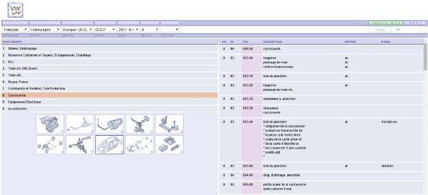 ETKA catalogue des pièces du groupe volkswagen