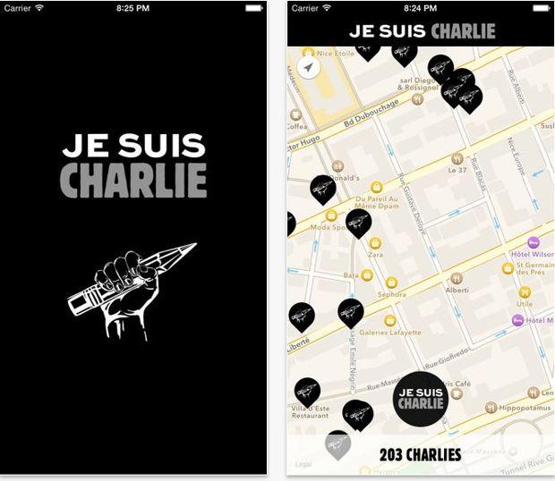 application iphone jesuischarlie