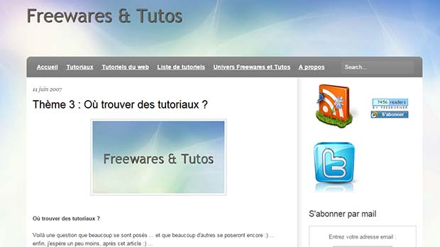 freewares et tutos